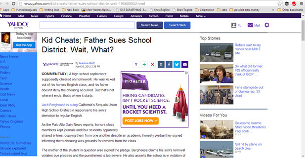 Kid Cheats father sues school district wait what.