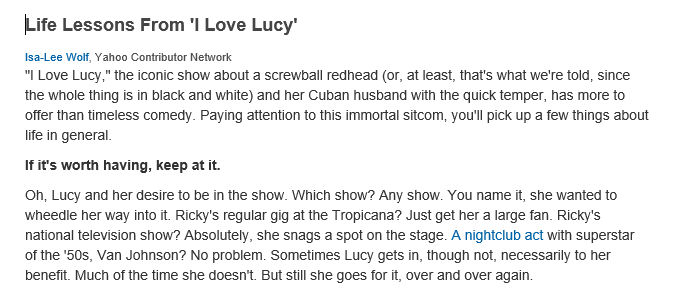 Life lessons I love Lucy